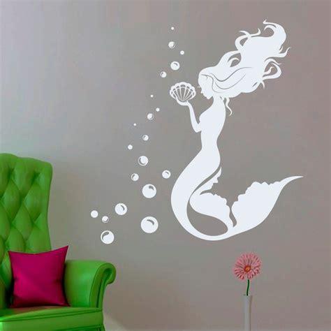 wall decor mermaid vinyl decal water nymph wall sticker bathroom Mermaid