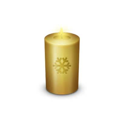 Candle Icon Christmas Golden Icons Theme Gakuseisean