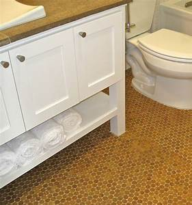 Cork floor in bathroom eco friendly and durable bathroom for The ingenious ideas for bathroom flooring