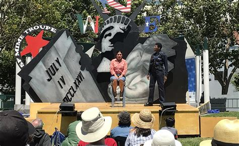 sf mime toupe stars fall  stage delays performances