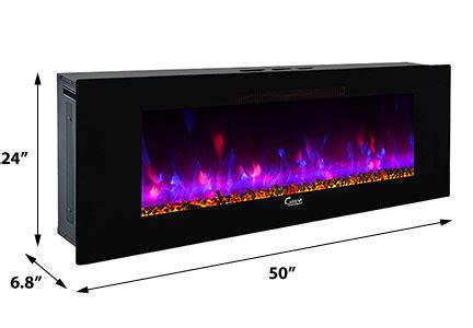 caesar fireplace  wall mount electric fireplace