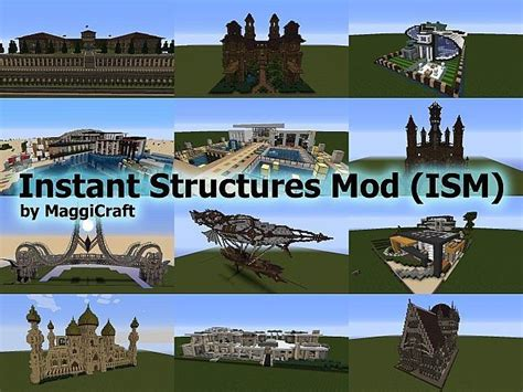 instant structures mod  minecraft