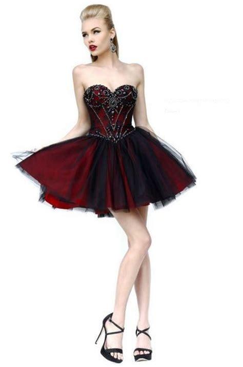 ball sweetheart short burgundy satin black tulle beading