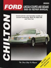 small engine repair training 1985 lincoln continental auto manual 1988 2000 lincoln coupes sedans chilton s total car care manual