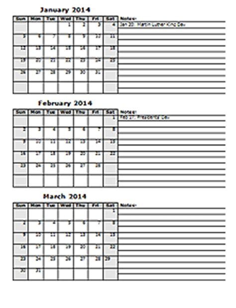 Printable 2015 Calendar Three Months Per Page 2014 Calendar Templates 2014 Monthly Yearly