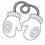 Mittens Coloring Pages Clipart Mitten Gloves Printable Christmas Clip Winter Outline Cliparts Pair Warm Super Pattern Hat Coloringpages Santa Unlabeled sketch template