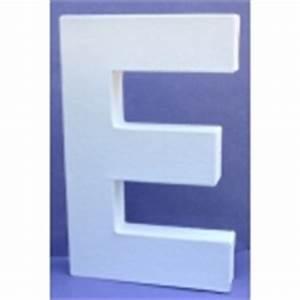 Lettre En Carton À Peindre : lettre 3d e en carton 20cm maison pratic boutique pour vos loisirs creatifs et votre deco ~ Nature-et-papiers.com Idées de Décoration