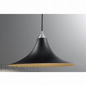 Franklite fl  black glass single pendant light
