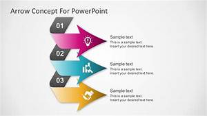 Free 3 Steps Arrows Diagram For Powerpoint