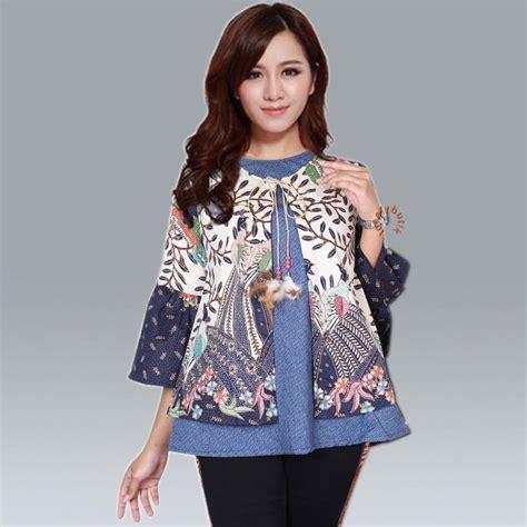 Kalung Batik Sekar We02 30 model baju batik kantor wanita berjilbab kombinasi