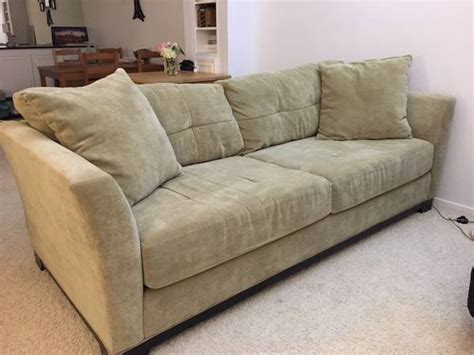Suede Couches For Sale by Letgo Olive Green Suede For In Farmer Market Ca