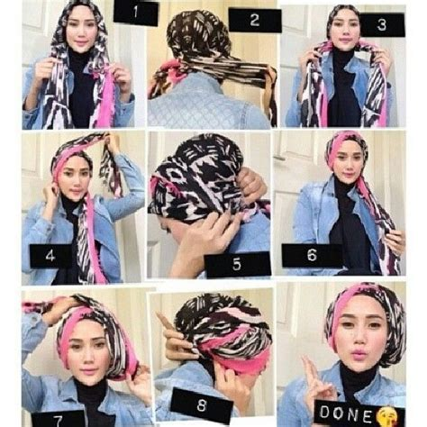 tutorial hijab turban modern google search hiijab
