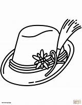Hat Coloring Pages German Bavarian Printable Sun Pointer Drawing Santa Shorthaired Fedora Germany Getcolorings Getdrawings Colorings Fall Clipartmag Categories sketch template