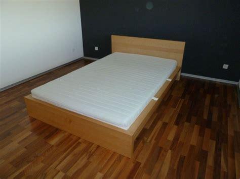 Ikea Malm Bett Birke 140x220 Inkl Rost Und Matratze Aus