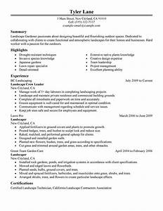 example resume example resume landscaping With sample resume for lawn care worker