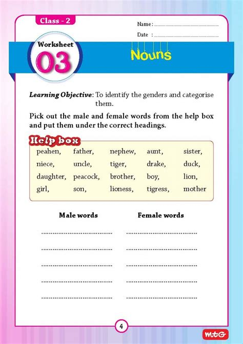 51 english grammar worksheets class 2 instant downloadable ep201800010 rs 250 00 pcmb