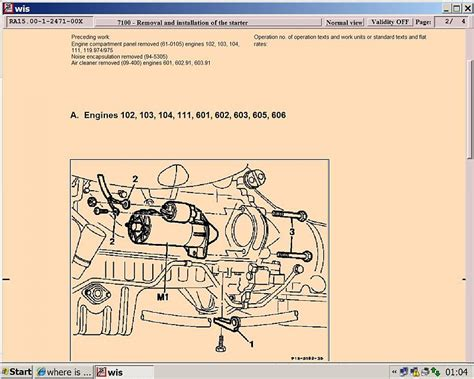 solenoid  starter motor located mercedes