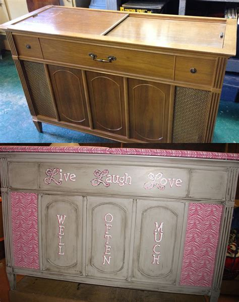 vintage stereo cabinet repurposed before and after pics repurposing a vintage stereo