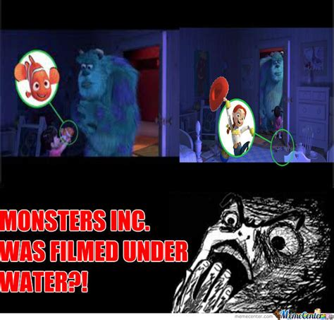 Monsters Inc Meme Face Drone Fest