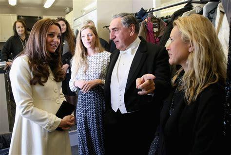 princess catherine visits set  downton abbeylainey