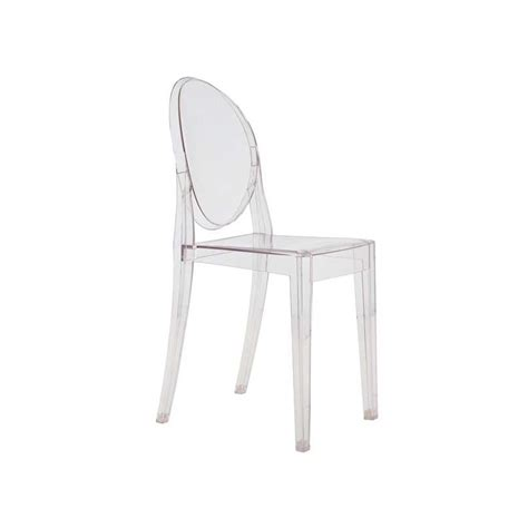 chaise ghost chaise ghost par philippe starck kartell ganj