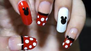 Nail art at home easy cool mickey mouse design in steps