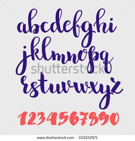 brush lettering alphabet handwriting stock photos images pictures 22082