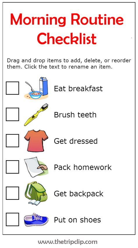 Make Your Own Morning Routine Plus Lots Of Other Printable
