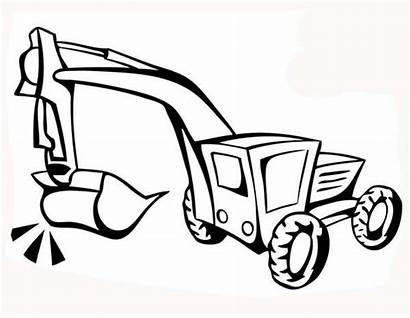 Digger Coloring Construction Excavator Pages Draw Truck