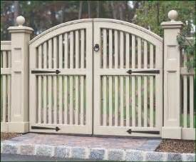 double wood gate designs
