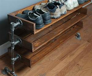 Handmade Reclaimed Wood Shoe Stand / Rack / Organizer with