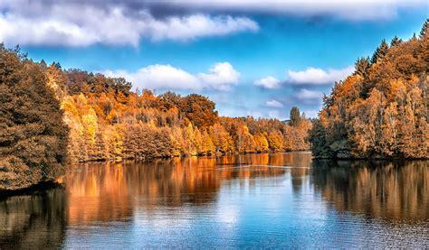 photo gratuite lautomne paysage lac arbres image