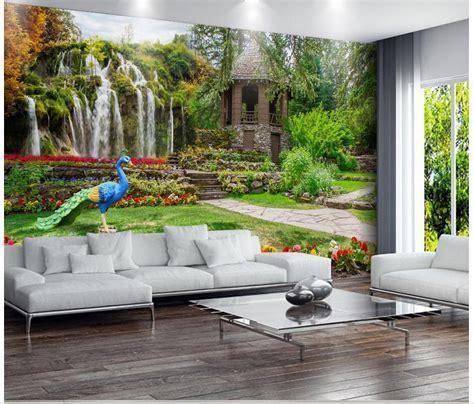 3d Wallpapers For Walls by 3d Wallpaper Garden Landscapes Waterfalls Photo Wall