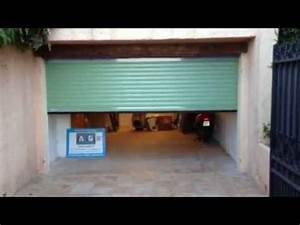 porte de garage enroulable motorisee posee par apg acces With porte garage motorisee