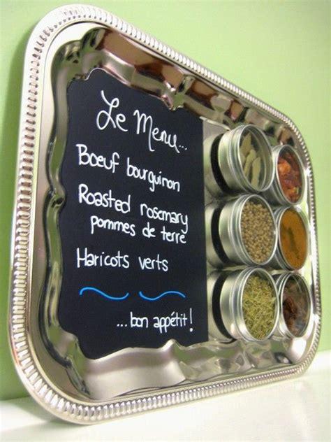 Spice Rack Menu by Kitchen Chalkboard Magnetic Spice Rack Wall Mount Menu