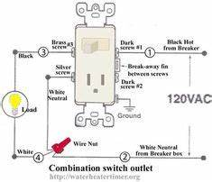 how to wire switches combination switch outlet light With house wiring on wiring and replacing a light fitting diy project