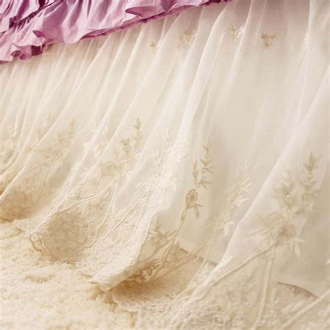 candle warmer lace bed skirt