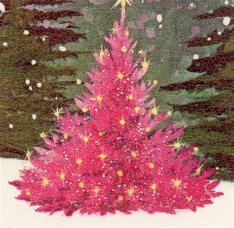 pink retro christmas tree christmas pinterest