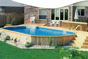Above ground swimming pools uk fascinating used above for Above ground swimming pool deck designs