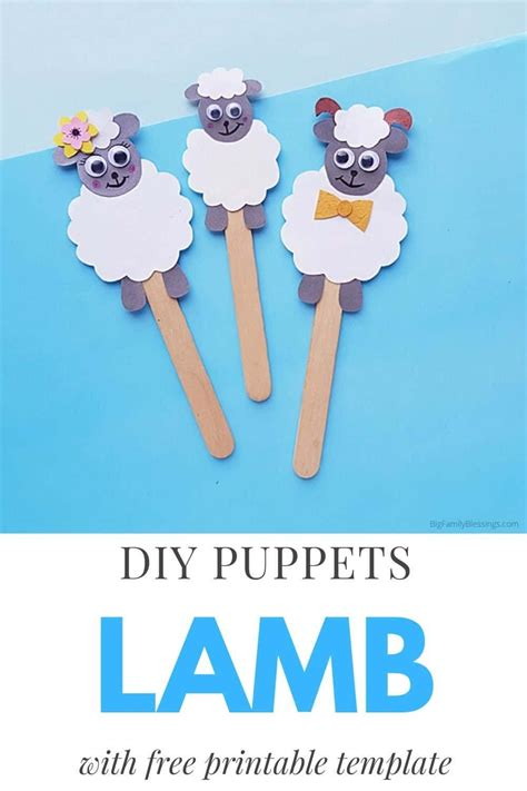 sheep craft diy popsicle stick puppets