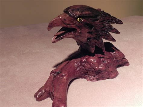 eagle head sculpture power carving project