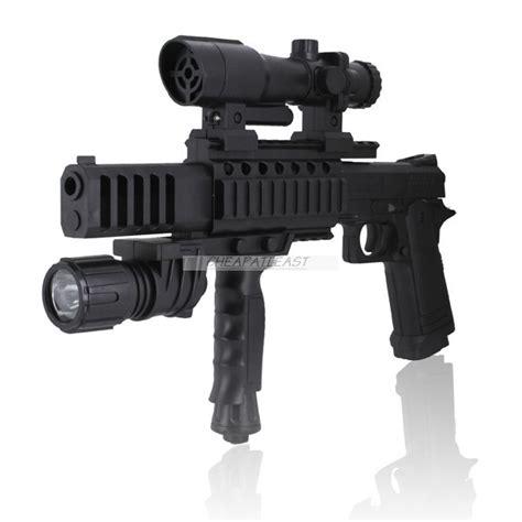 pistolet d assault air soft 224 billes 6 mm avec viseur
