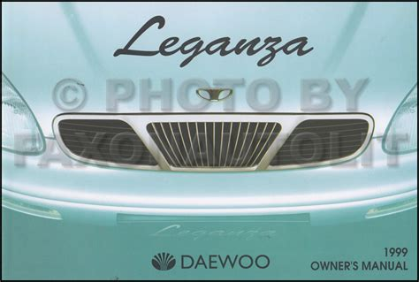 car owners manuals for sale 1999 daewoo leganza head up display 1999 daewoo leganza owner s manual original