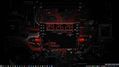 Desktop Animated Countdown Cyberpunk Wallpapers Clock Rainmeter