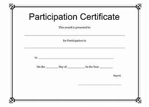 search results for participation certificate template With free templates for certificates of participation