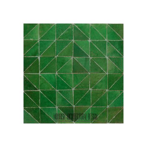 green moroccan bathroom floor tile design