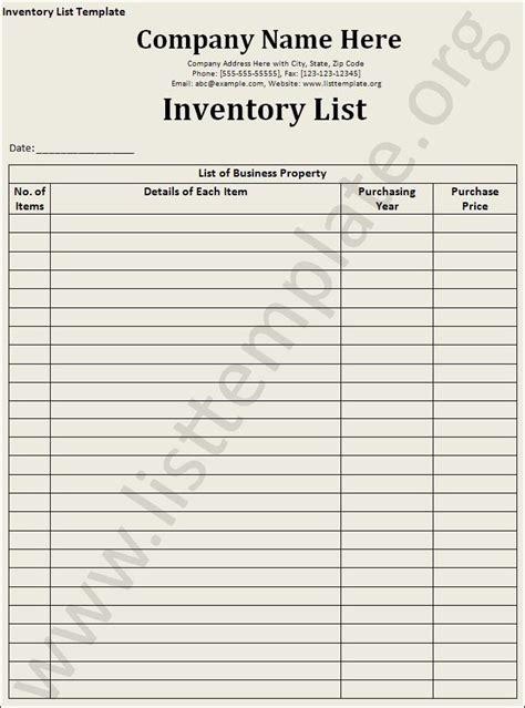 inventory list template craft ideas resume template