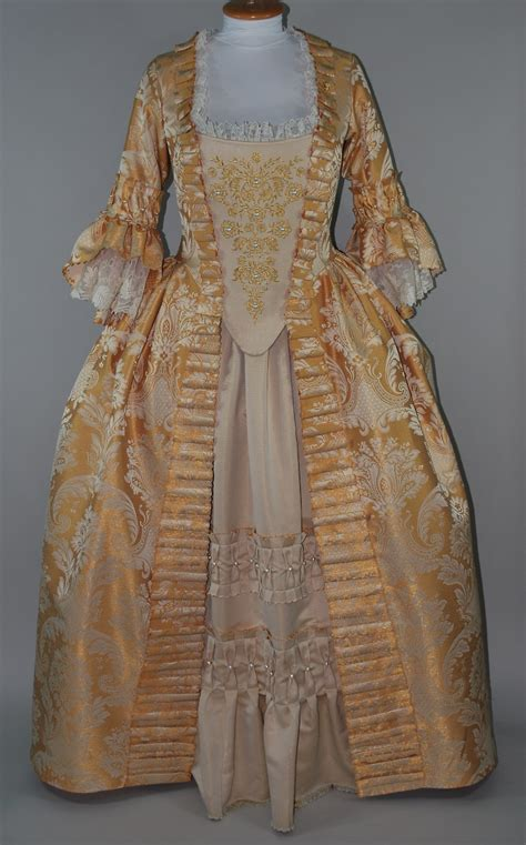gold embroidered  century gown starlight masquerade