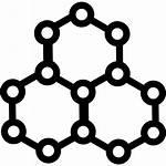 Molecules Icon Hexagonal Shapes Shape Circle Star