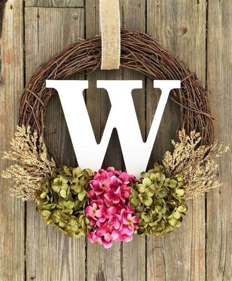 monogram wreath spring wreathspring decor summer  wreathmelove   home wreaths